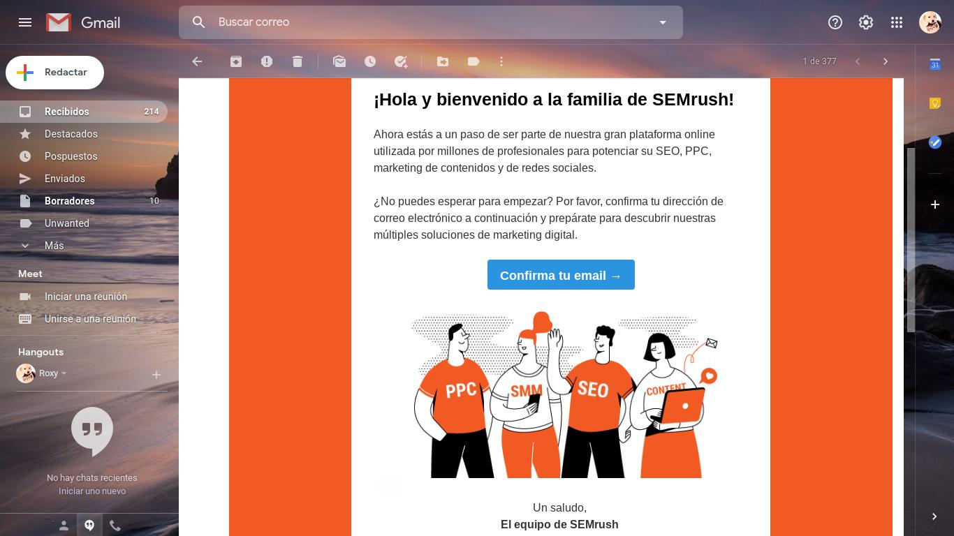 semrush correo