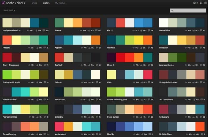 Cómo puedo compartir un tema de color